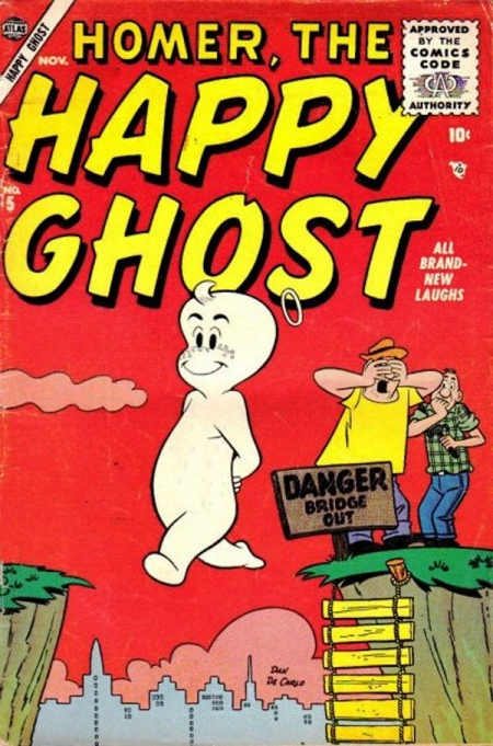 Homer, the Happy Ghost 5 Cover Image