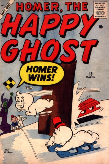 Homer, the Happy Ghost 18 Cover Image
