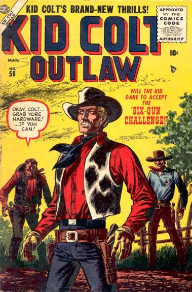 Kid Colt Outlaw 58 Cover Image