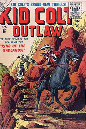 Kid Colt Outlaw 59 Cover Image