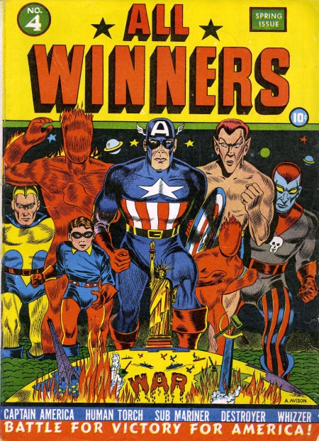 All Winners Comics 4 Cover Image