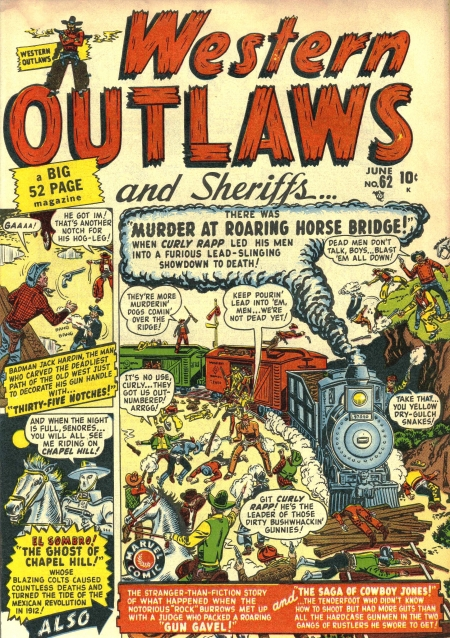 Western Outlaws & Sheriffs 62 Cover Image