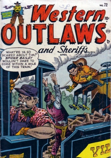 Western Outlaws & Sheriffs 72 Cover Image