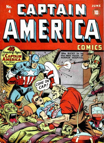 Captain America Comics 4 Cover Image