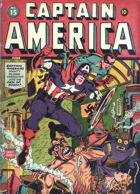 Captain America Comics 15 Cover Image