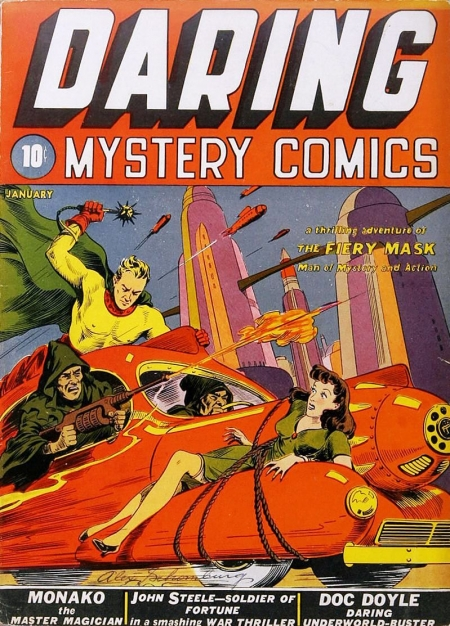 Daring Mystery Comics 1 Cover Image