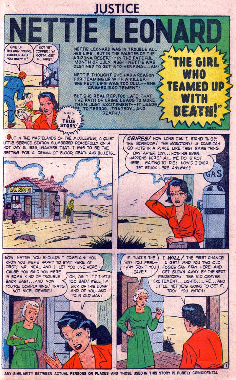 5069 Nettie Leonard / The Girl Who Teamed Up with Death! Page 1