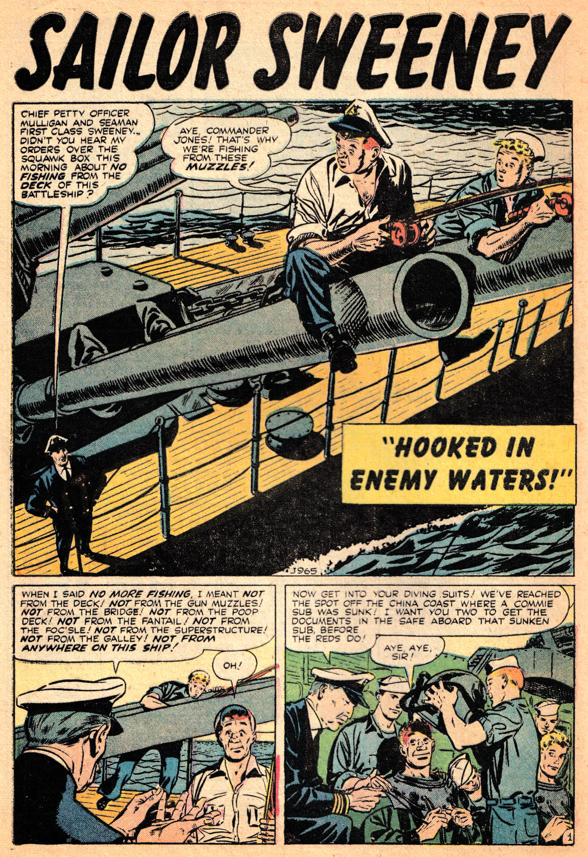 J-965 Hooked in Enemy Waters! Page 1