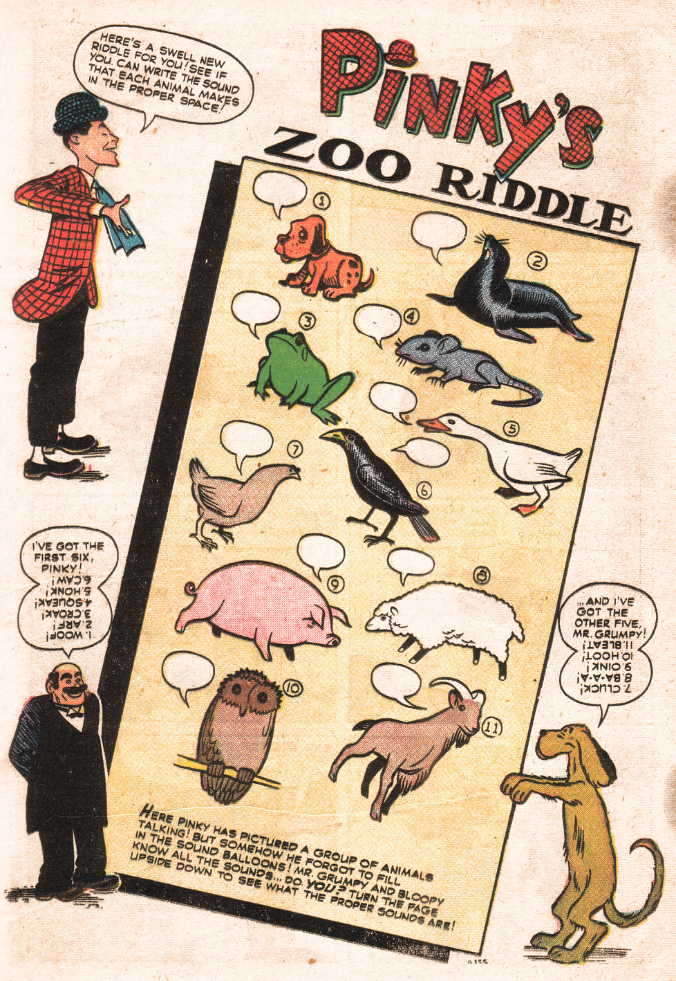 G-356 Pinky's Zoo Riddle Page 1
