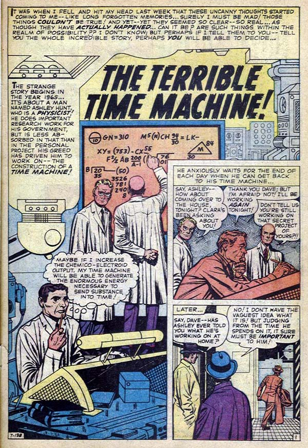 T-198 The Terrible Time Machine! Page 1